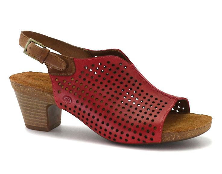 Shop online at Old Shoe Dawg - Free Shipping. - The Josef Seibel Ruth 17 is a sling-back sandal perforated uppers for a modern and breathable look! The airy sandal allows feet to breathe while the adjust