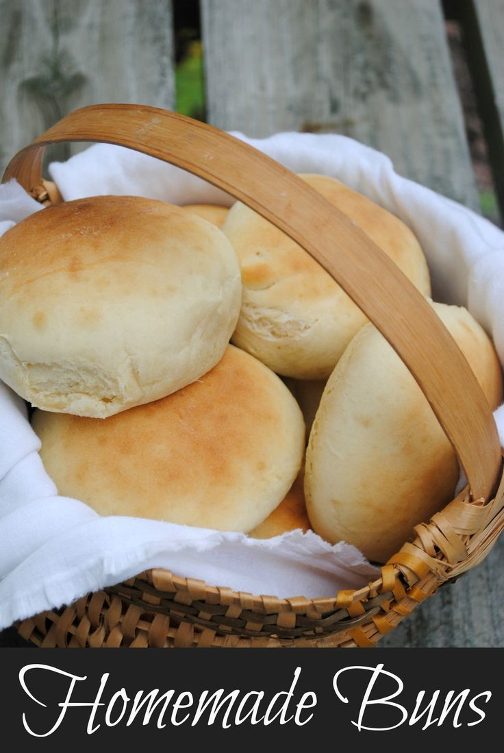 Easy Homemade Buns.  They also make great dinner rolls if divided into smaller portions.  Great for summer grilling.