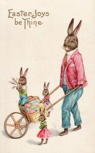 Free Easter Bunny printable from Vintage Printables