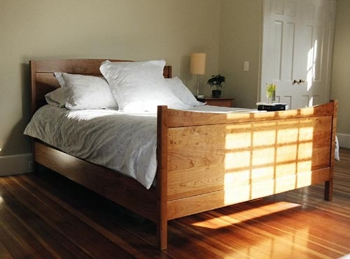 Shaker Style Bedroom Furniture The Graceful Curve Of Our Frame Panel Bed In Cherry