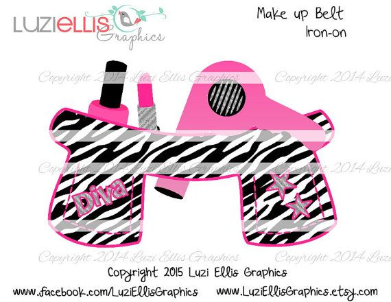 Print your own Iron on  Zebra Print Make up by LuziEllisGraphics