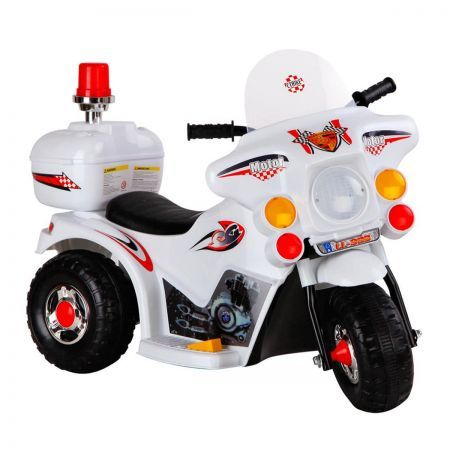 Kids Ride on Motorbike - White