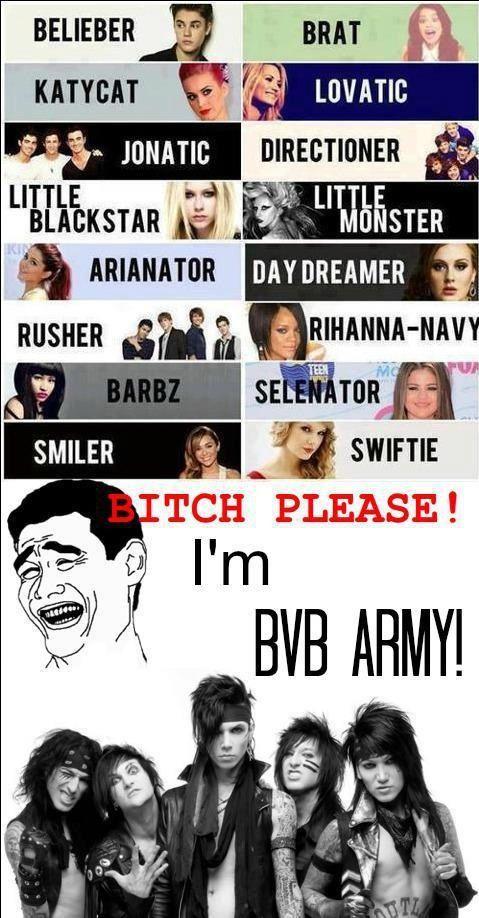 psshh please...I AM A BVB ARMY MEMBER. I got Black Veil Bride Pride!