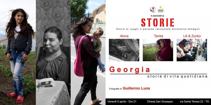 Guillermo Luna a Torino il 5 aprile 2013.    Il Racconta Storie, lavoro fotografico sulla Georgia.     La storia di tre donne coraggiose