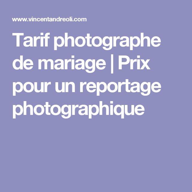 Tarif photographe de mariage | Prix pour un reportage photographique