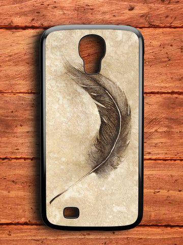 Marble Grainte Feather Samsung Galaxy S4 Case