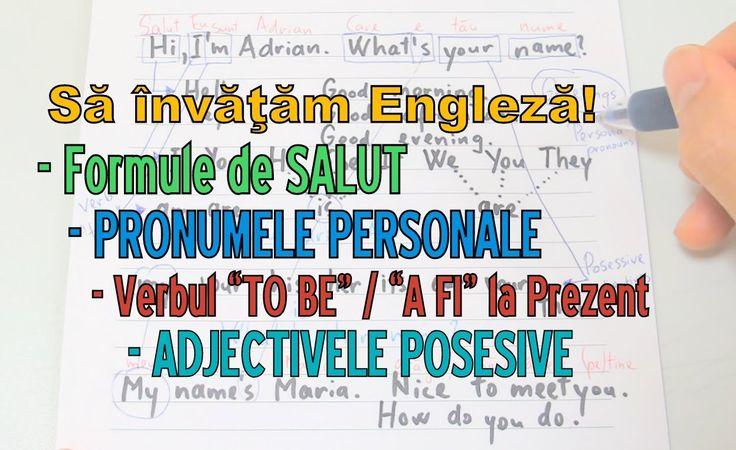 """Sa invatam engleza - PRONUMELE, VERBUL """"A FI"""", ADJECTIVE POSESIVE - Lear..."""