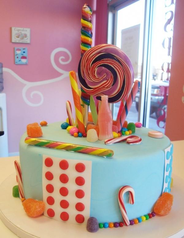 Candy fantasy cake