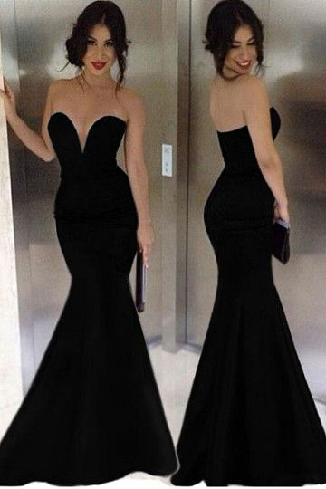 2016 Attractive Mermaid Sweetheart Pure Color Floor-Length Evening Dresses