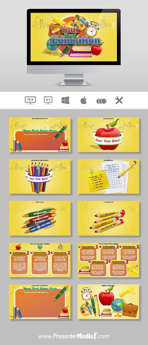 Your Best Euducation Template #PowerPoint #Presentation #Education http://bit.ly/2bxdkKP