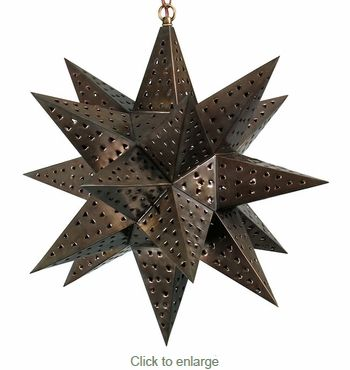 large moravian star light punched tin 18