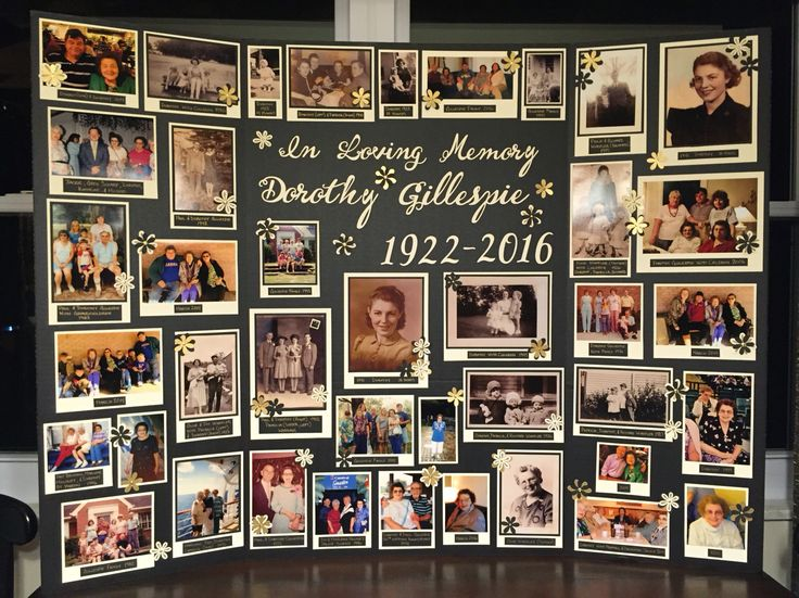 Memory board for funeral                                                                                                                                                                                 More