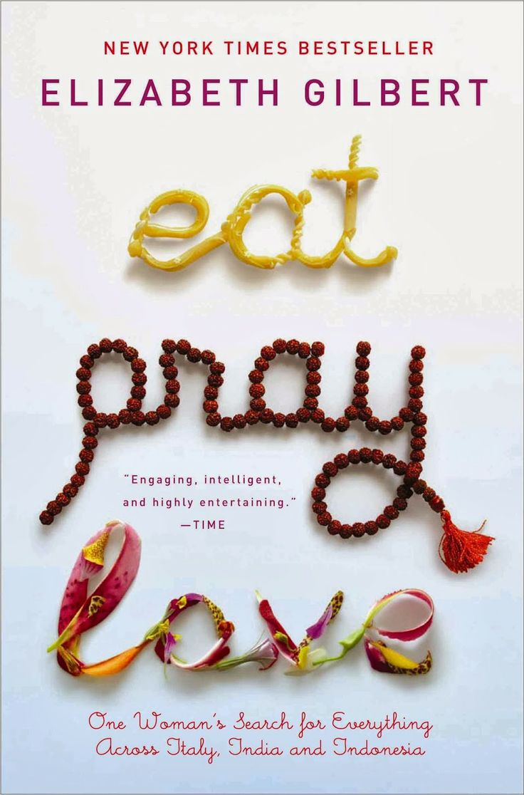 Eat Pray and Love - Elizabeth Gilbert. I'm in the middle of reading this. It's really good :)