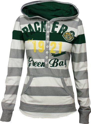 Green Bay Packers YAC Women's Striped Hoodie by G-III Sports, http://www.amazon.com/dp/B008ZQ44OE/ref=cm_sw_r_pi_dp_jlXcsb1SVWJD5