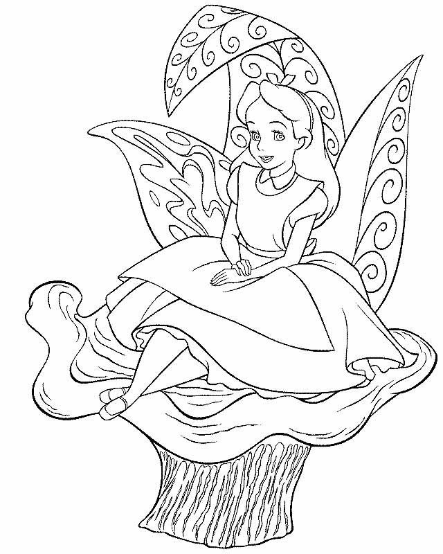 alice in wonderland coloring pages 2010 - Alice Wonderland Coloring Pages