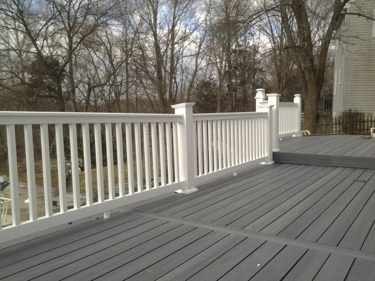 BuildDirect – Vinyl Deck Railing System – White - Outdoor View