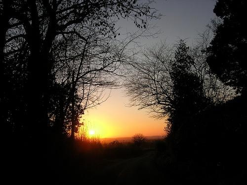 An Oswestry Sunset