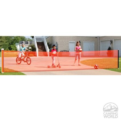 Image Retractable Driveway Safety Net-25 ft. To Enlarge the image, click Control-Option-Spacebar