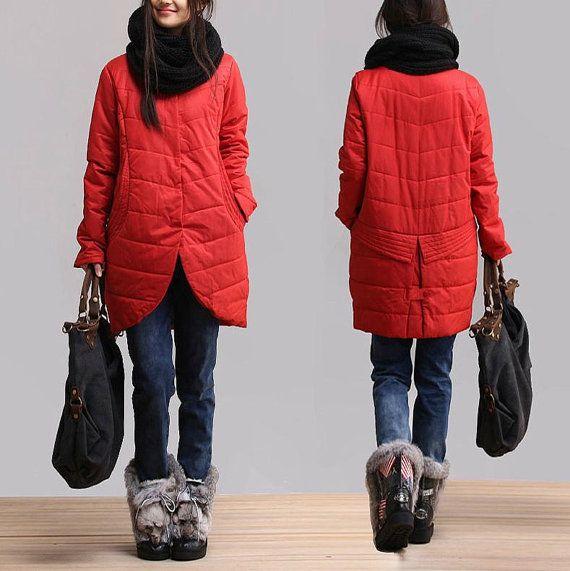 Dark red female casual singlebreasted jacket / stylish by dreamyil, $163.00