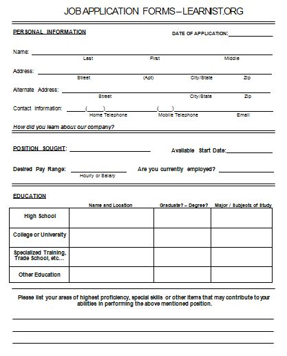 19 Best Images About College Application Form On Pinterest