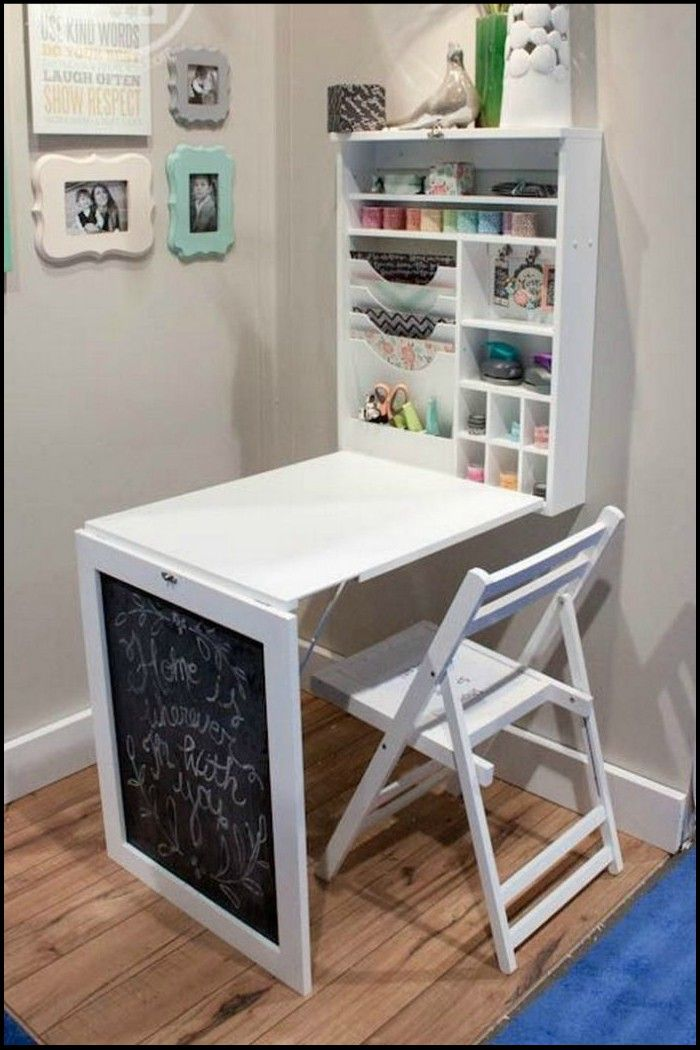 Maximize Your Home Office or Crafts Space With This DIY Murphy Craft Table