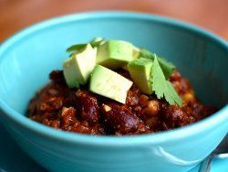 Chocolate Chip Chili With Sausage   AllFreeSlowCookerRecipes.com