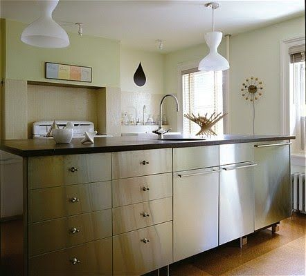 IKEA stainless steel cabinets Brooklyn heights -