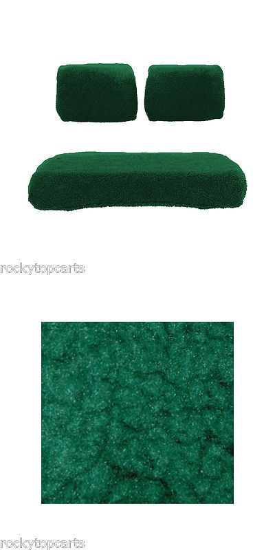 Push-Pull Golf Cart Add-ons 72671: Yamaha Golf Cart Green Sheepskin 3 Piece Seat Cover Set Fits G14 G16 G19 G22 -> BUY IT NOW ONLY: $54.99 on eBay!