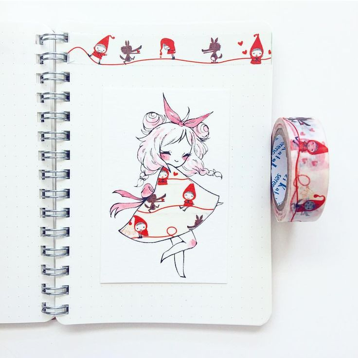 Washi tape drawings
