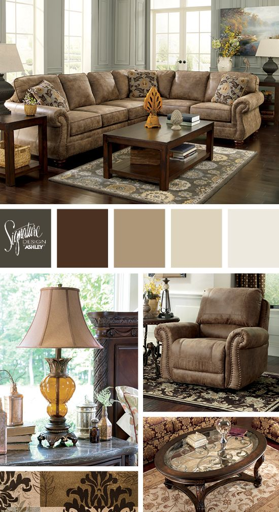 Larkinhurst Sectional - Traditional Furniture Style - Ashley Furniture