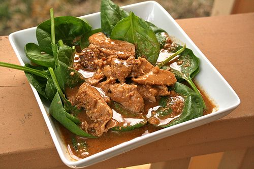 Swimming peanut sauce and chicken on pinterest for Swimming chicken