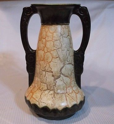 Antique Czech Art Deco Ditmar Urbach Alienware Pottery Vase