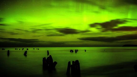 Video Still of Northern Lights Over Leland, MI #2