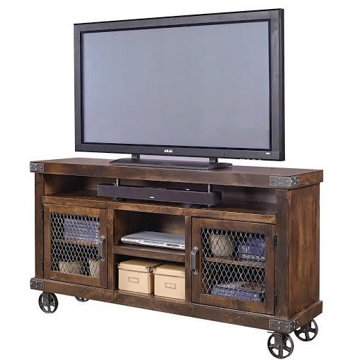 """Industrial 65"""" TV Console                                                                                                                                                                                 More"""