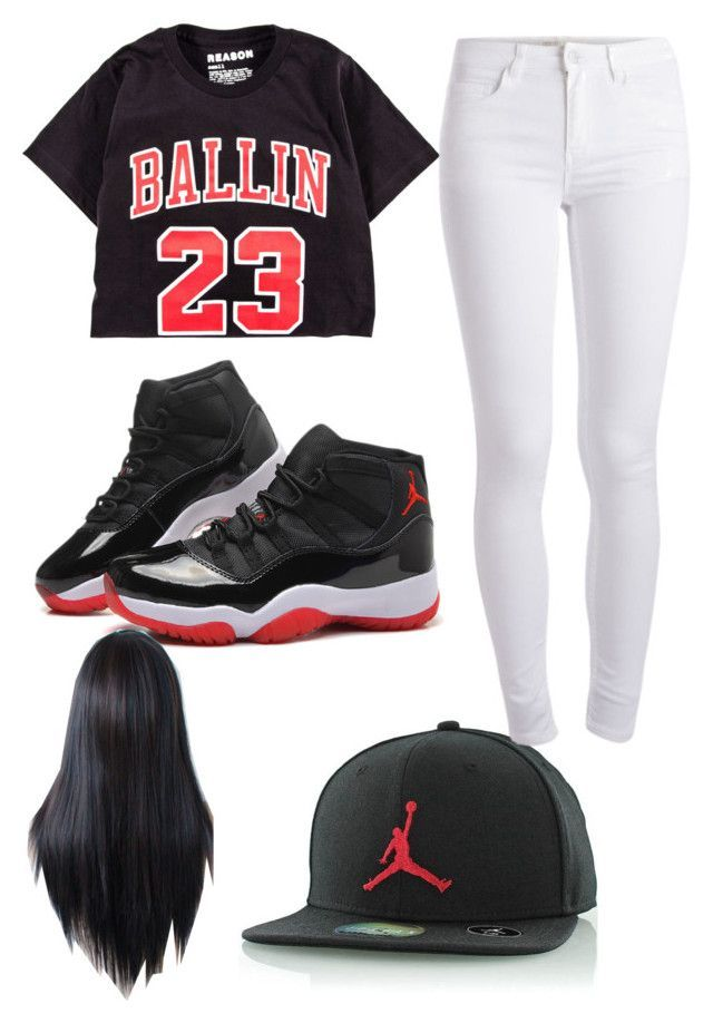 Jordan Outfit by ashanti-11 ❤ liked on Polyvore featuring Pieces 8f49a5f613