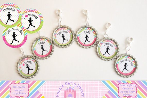 #girlsontherun girls on the run, GOTR, Track and Field Girl's Running Team Favor Girls Running Club by NanasPartyPalace