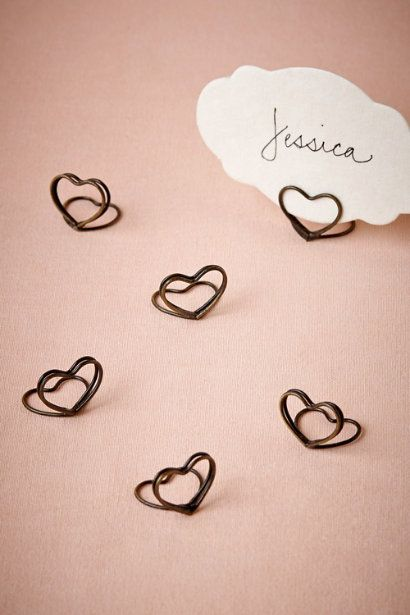 Heart Place Card Holders (6) in New Décor at BHLDN