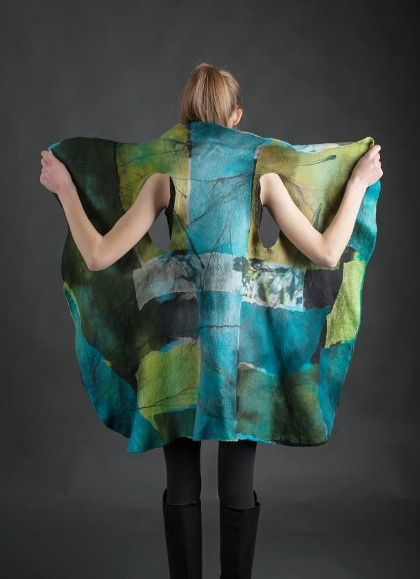 Barcelona Vest by Eva Camacho-Sanchez.  Silk & wool - felted.