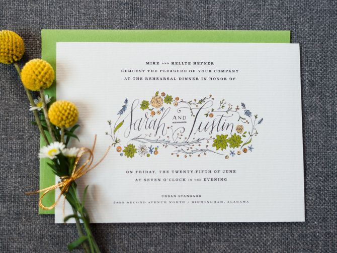 stationery :: wedding parties - holly hollon