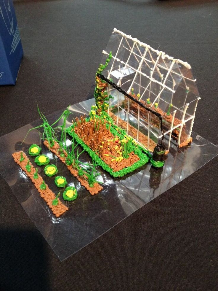 Nikki's 3Doodler garden and greenhouse has blown us away! Created for the London 3D Print Show by GoPrint3D's Yorkshire-based artist Nikki