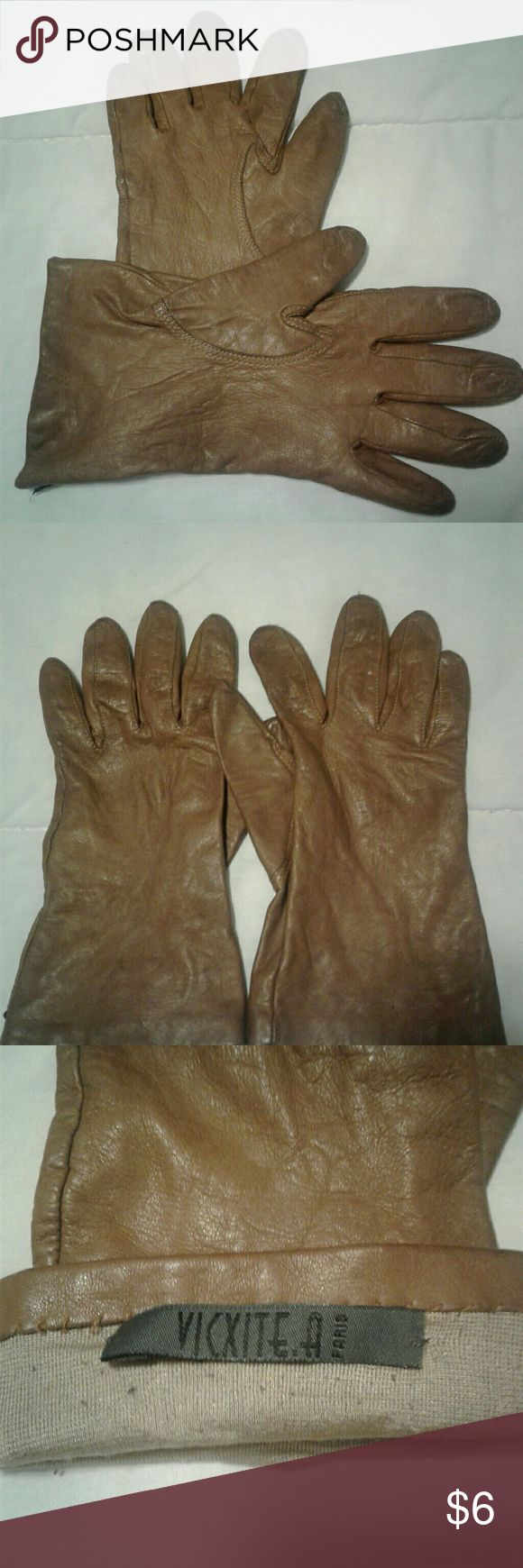 Very mens gloves - Vintage Women S Brown Leather Gloves Size 7