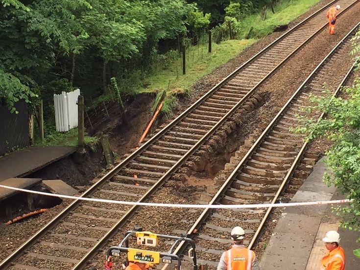 example of flooding damage to modern railways