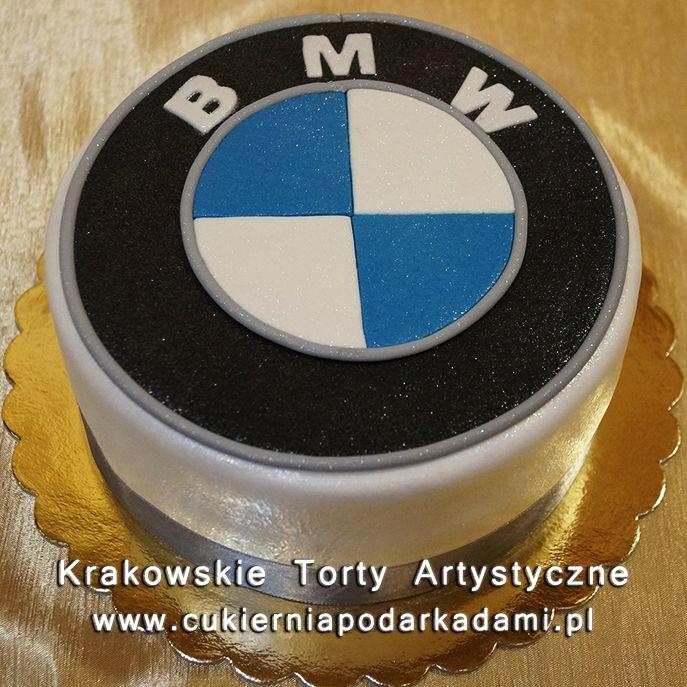 129. Tort ze znaczkiem BMW. BMW logo cake.