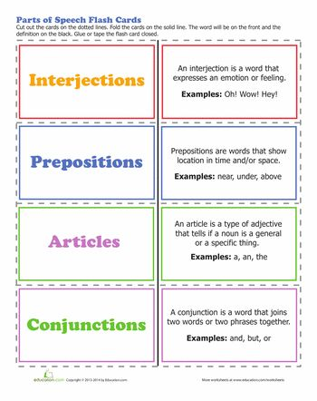 Worksheets: 8 Parts of Speech  Cycle 2, week 1 This has articles instead of pronouns, so it doesn't align with CC perfectly, but could be adapted.