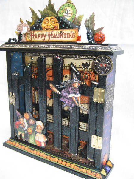 We love this Happy Haunting Key Cabinet by @Belinda Chang Dewar! Isn't it wonderful? #graphic45 #halloween #DIY