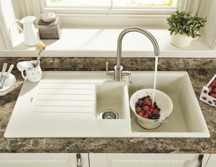 Lamona Cream granite composite 1.5 bowl sink