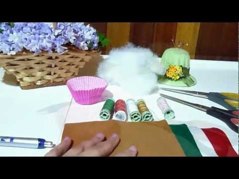 Cupcake de Feltro 2 - YouTube