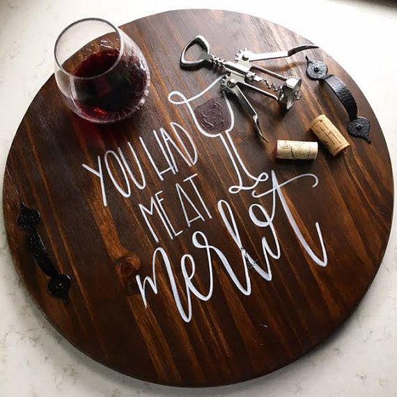 You Had Me At Merlot Serving Tray | Decorative Tray | Wine Tray | Wine Decor…