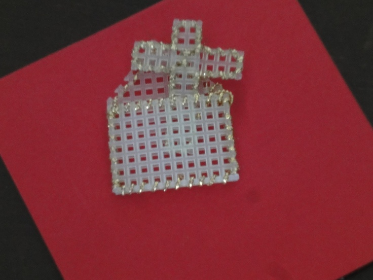 Plastic canvas cross in a pocket craft therapy for Cross in my pocket craft