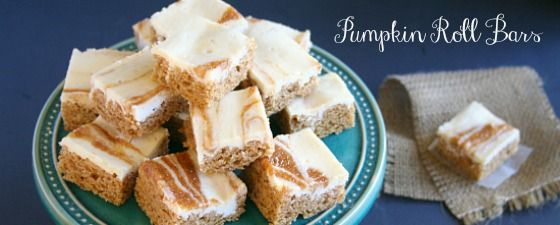 Pumpkin Roll Bars from Jen's Favorite Cookies